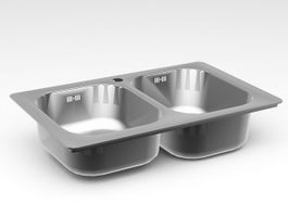 Stainless Steel Kitchen Sink 3d preview
