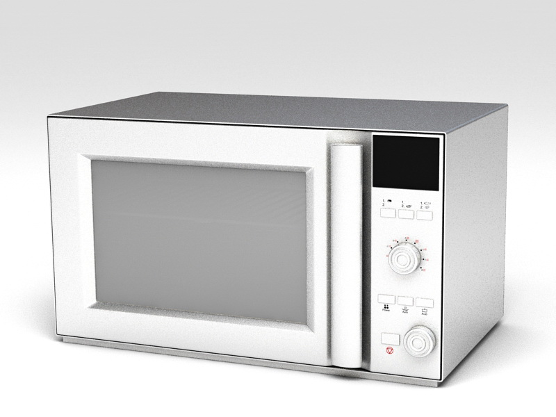Built Microwave 3d rendering