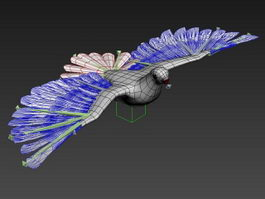White Pigeon Animated Rig 3d preview