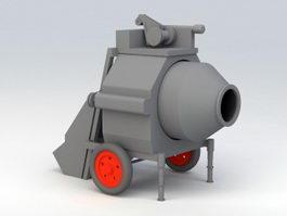 On-site Concrete Mixer 3d preview