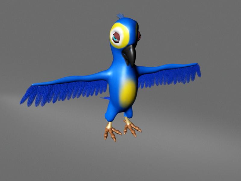 Parrot Rig 3d rendering