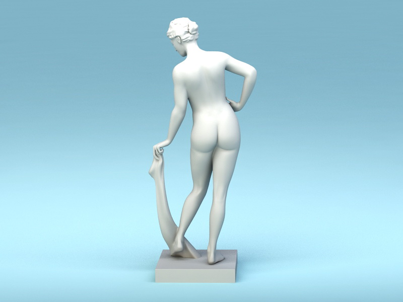 Greek Woman Statue 3d rendering