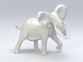 Elephant Statue 3d model preview