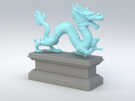 Chinese Dragon Sculpture 3d model preview