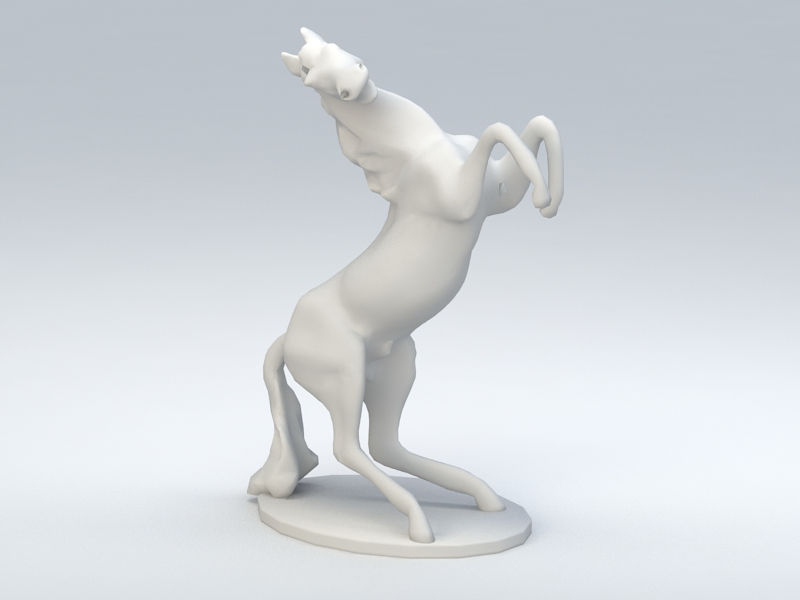 Horse Figurine 3d rendering