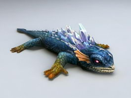 Crystal Lizard 3d preview
