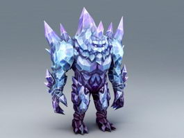 Crystal Golem 3d preview