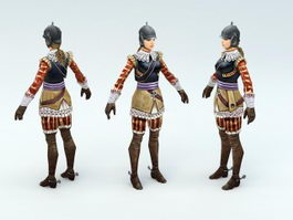 Female Medieval Knight 3d preview