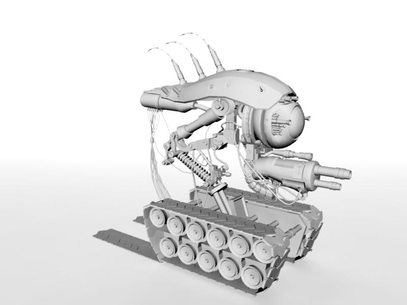 Sci-Fi War Vehicle 3d rendering