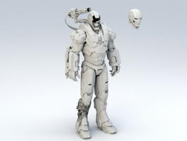 Iron Man War Machine 3d preview