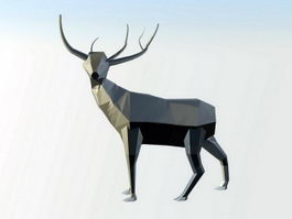 Low Poly Elk 3d preview