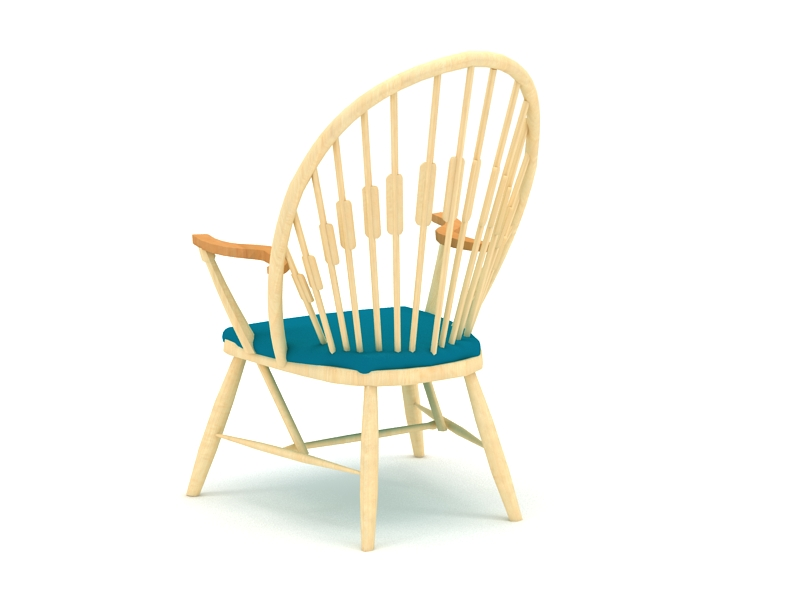 Traditional Windsor Chair 3d rendering