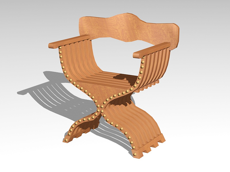 Ancient Rome Curule Seat 3d rendering