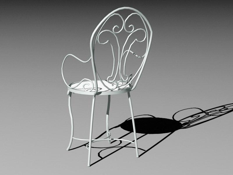 Outdoor Metal Chair 3d rendering