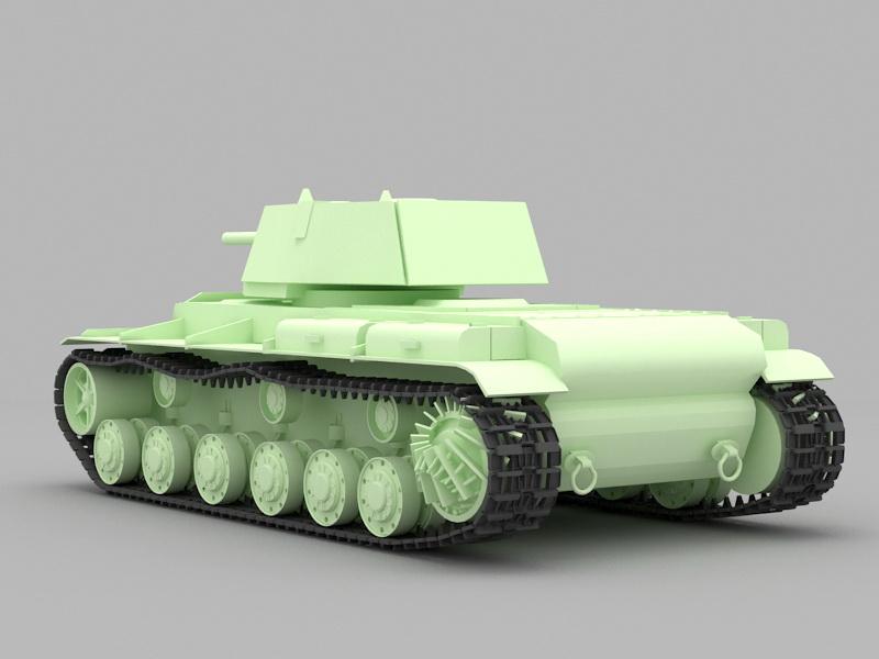 KV-1 Heavy Tank 3d rendering