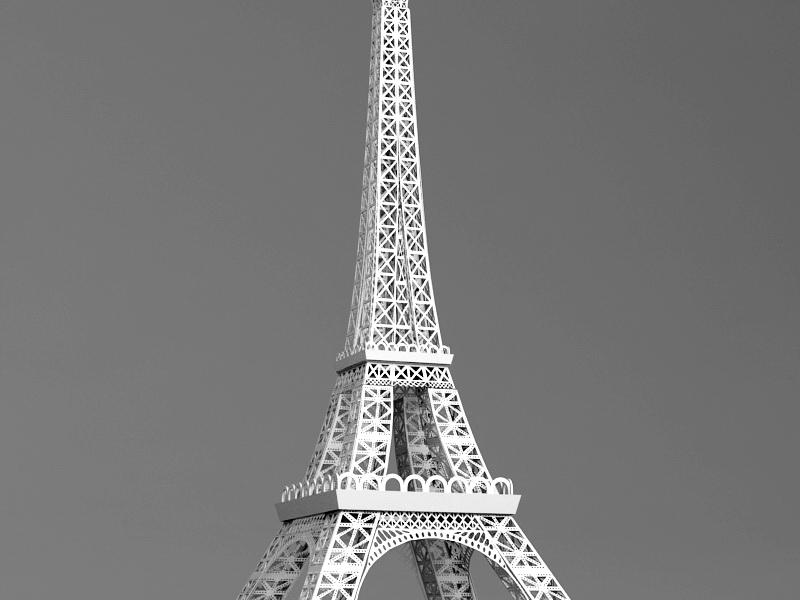 Tour Eiffel 3d rendering