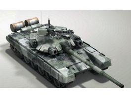 Russian Army T-90 Tank 3d model preview