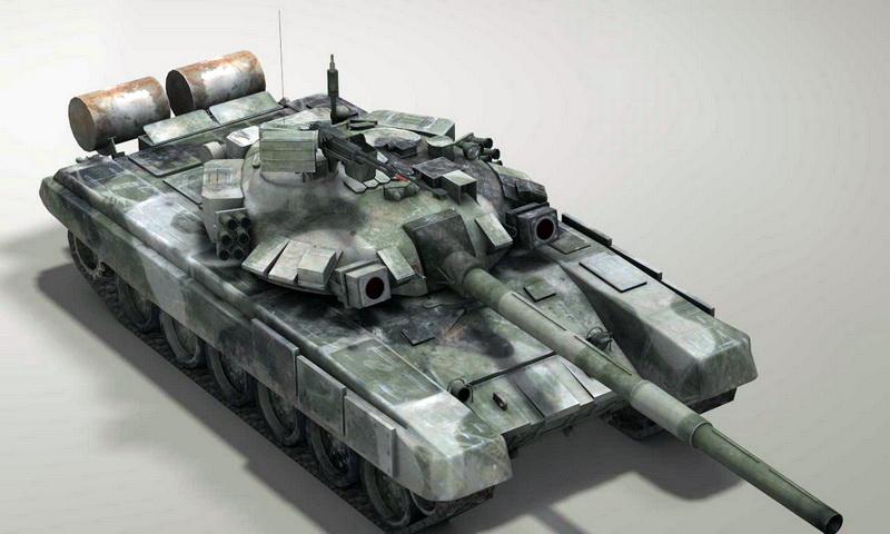 Russian Army T-90 Tank 3d rendering