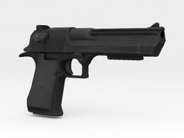 Desert Eagle Pistol 3d model preview