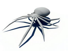 Low Poly Spider 3d preview