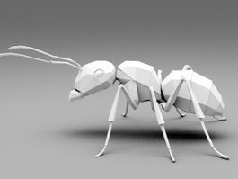 Low Poly Ant 3d preview