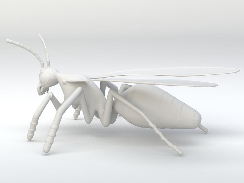 Asian Hornet 3d rendering