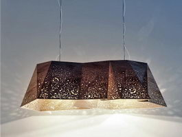 Plywood Chandelier 3d preview
