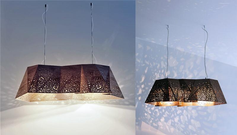 Plywood Chandelier 3d rendering