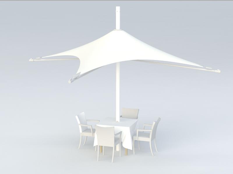 Outdoor Courtyard Furniture 3d rendering