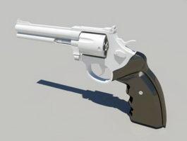Revolver Gun 3d model preview