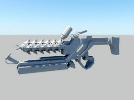 Sci-Fi Gun Concept Art 3d model preview
