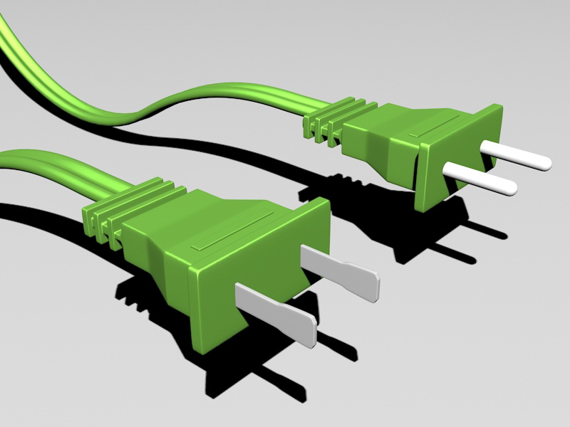 Electrical Plugs 3d rendering