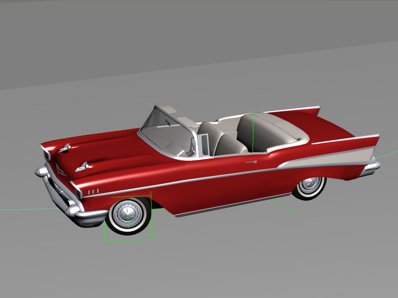 Animated Chevrolet Caprice Classic 3d rendering