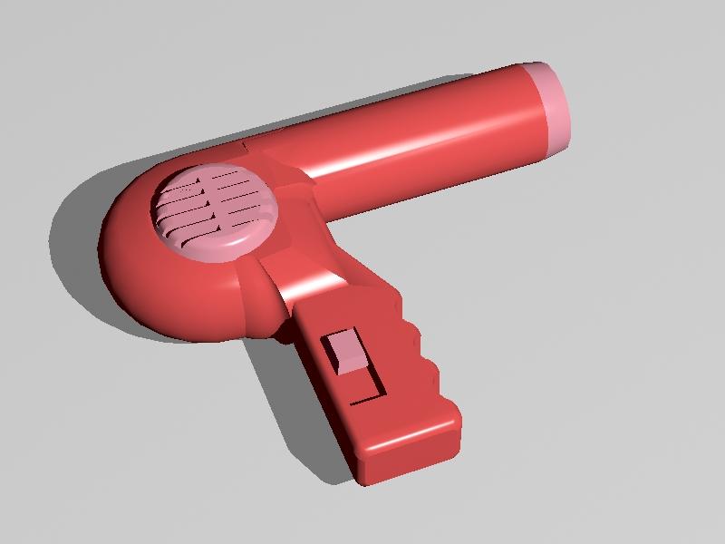 Old Hair Dryer 3d rendering