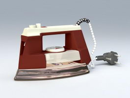 Electric Steam Iron 3d model preview