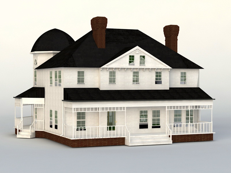 Victorian House 3d rendering