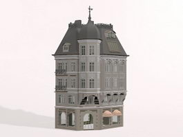Classic German building 3d preview