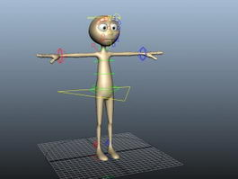Person Rig 3d preview