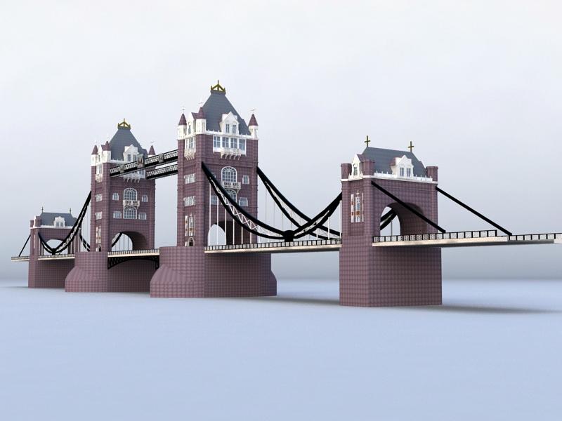 London Tower Bridge 3d rendering