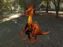 Red Dragon 3d model preview