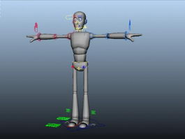 Person Base Male Rig 3d preview