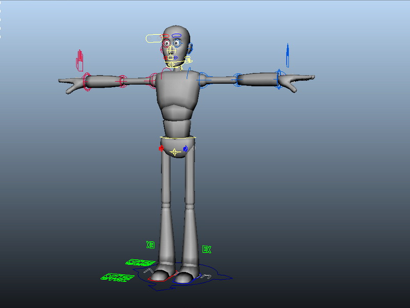 Person Base Male Rig 3d rendering