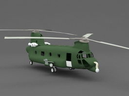 Chinook Helicopter 3d model preview