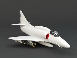 A-4 Skyhawk 3d model preview