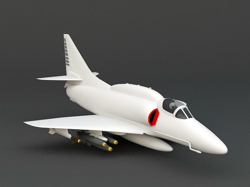A-4 Skyhawk 3d rendering