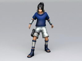 Sasuke Uchiha 3d model preview