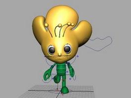 Cartoon Mascot Rig 3d model preview