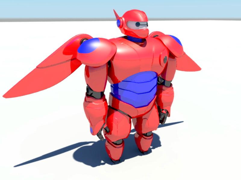 Red Mecha 3d rendering