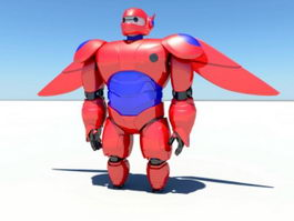 Red Mecha 3d preview