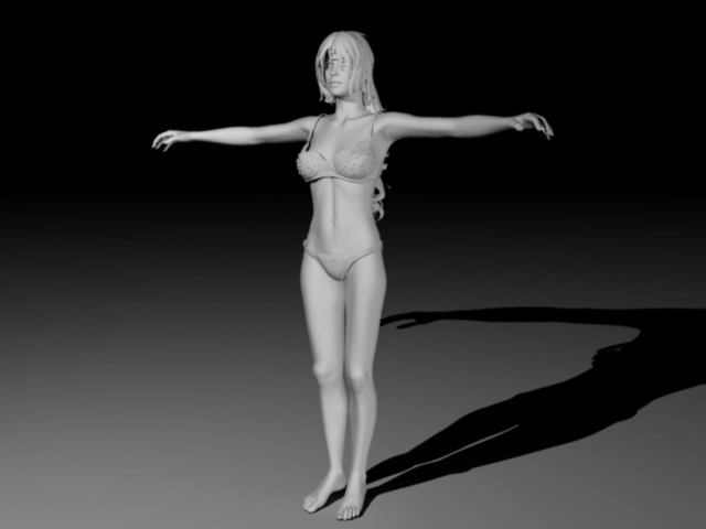 Female Character 3d rendering